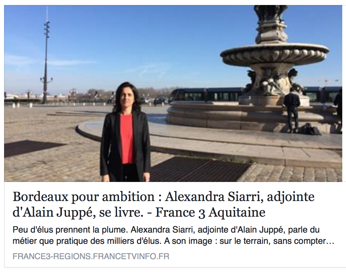 Interview Alexandra Siarri France 3 Aquitaine